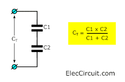 two capacitances divided