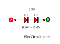 voltage across two diodes