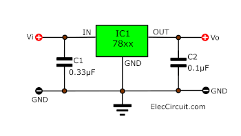 Basic 78xx Regulator circuit diagram
