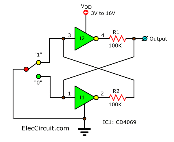 Bounceless Switch circuit