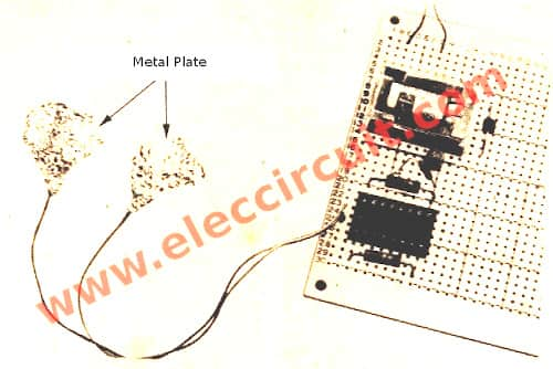 Flip-Flop touch switch circuit perforated board
