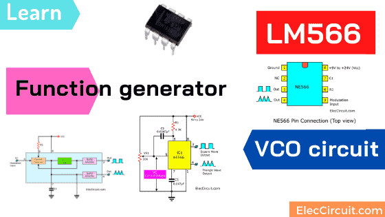 NE566 Function generator | Voltage Controlled Oscillator VCO circuit