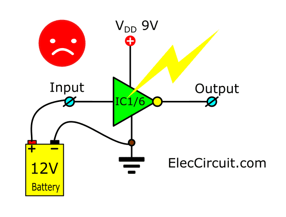 input voltage should not exceed VDD