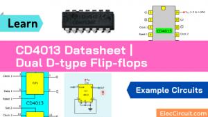 CD4013 Datasheet |Dual D-type Flip-flops | Example Circuits
