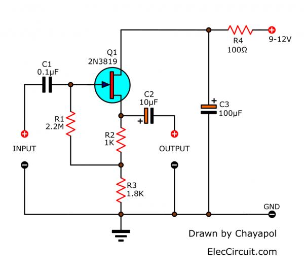 FET Preamplfier high impedance input