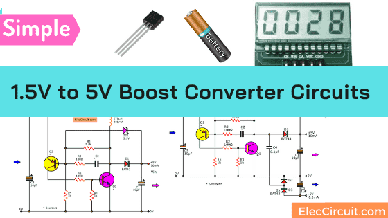 1.5V to 5V boost converter circuit  for microcomputer