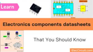 Electronics components datasheets