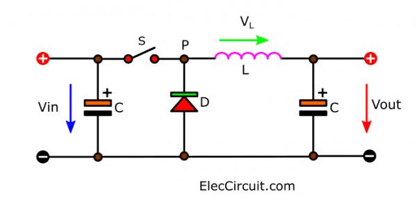 Basic Buck converter circuit diagram