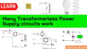 DC regulated transformerless Power Supply