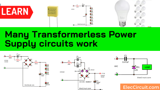 Simple transformerless power supply circuits