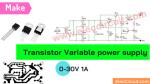 Transistor Variable Power supply