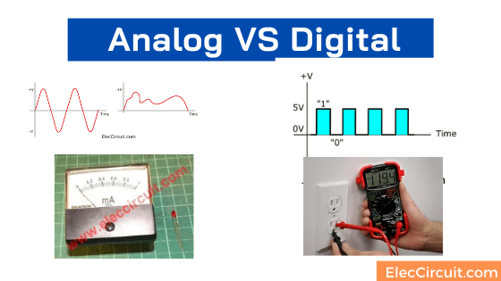 How analog and digital difference in electronics