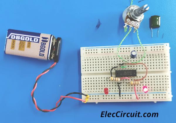 Build CD4047 Blinking LEDs on Breadboard