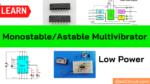CD4047 Astable multivibrator circuit