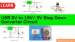 USB 5V to 1.5V/ 3V Step Down Converter Circuit