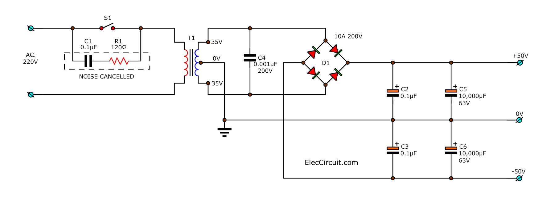 STK4231II 50V Dual Power supply circuit