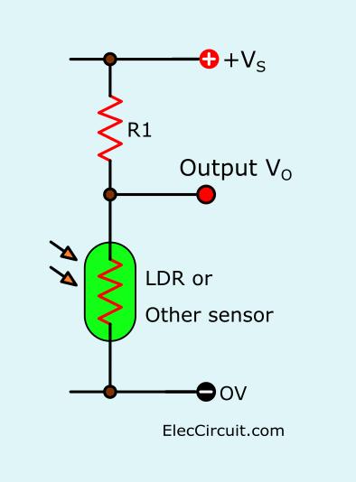 LDR voltage converter circuit