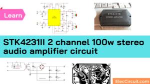 STK4231II stereo audio amplifier circuit