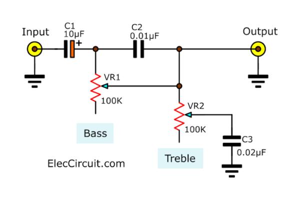 Simplest tone control circuit