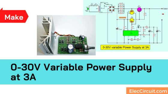 0-30V Variable Power Supply at 3A