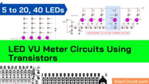 LED VU meter transistor