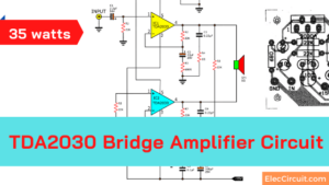 TDA2030 Bridge amplifier project 35 watts