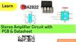 TDA2822 stereo amplifier datasheet