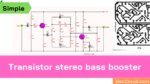 Transistor stereo bass booster