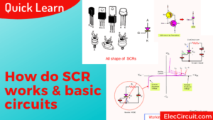 How do SCR works basic circuits