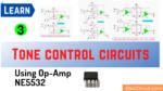 Tone control circuits using op amp NE5532