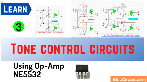 3 Tone control circuits using op amp NE5532