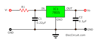 High Input voltage circuit by limiting resistor