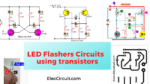 Learn 2 LED Flasher circuits using transistor
