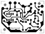 active bass boost circuit using ic 741 eleccircuit com the pcb layout and components for mono