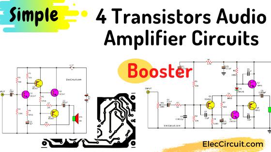 4 transistor booster amplifier circuit